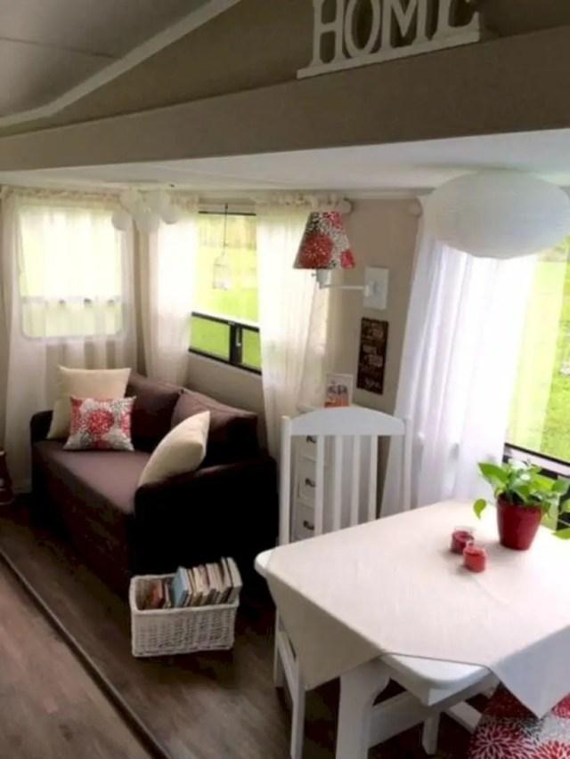 Camper decorating living room
