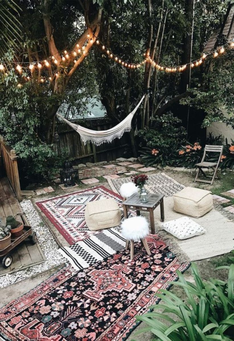 Chic bohemian interior design for party