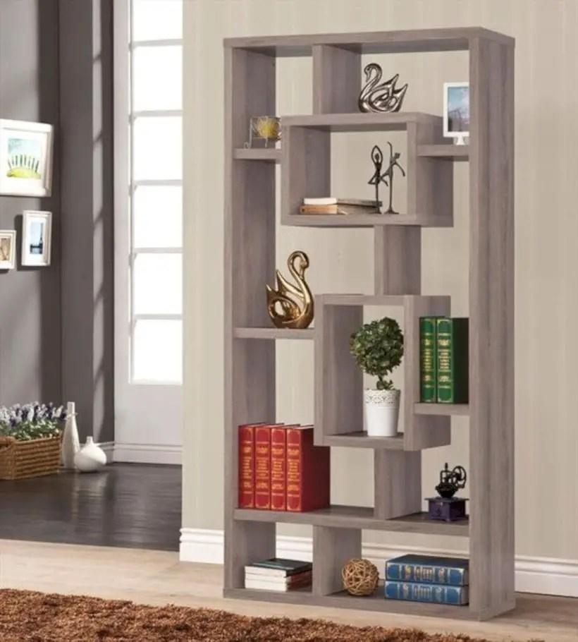 Coaster company contemporary wood book shelf