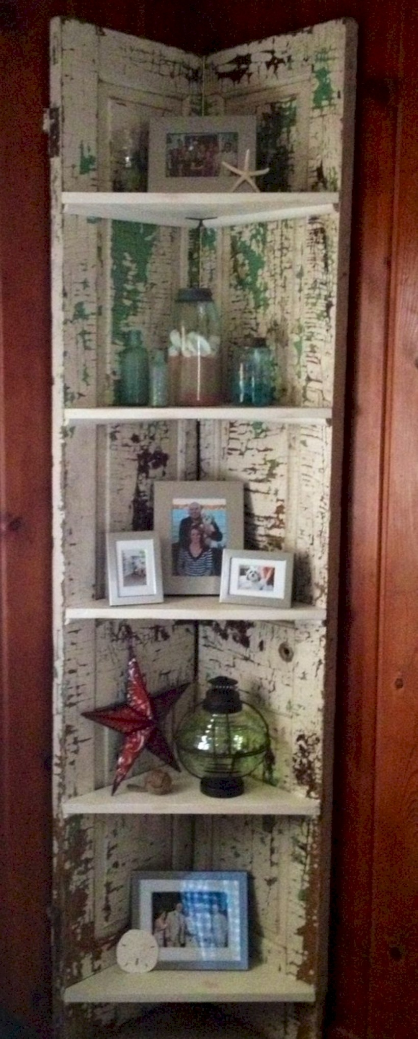Corner shelving for willow tree figurines