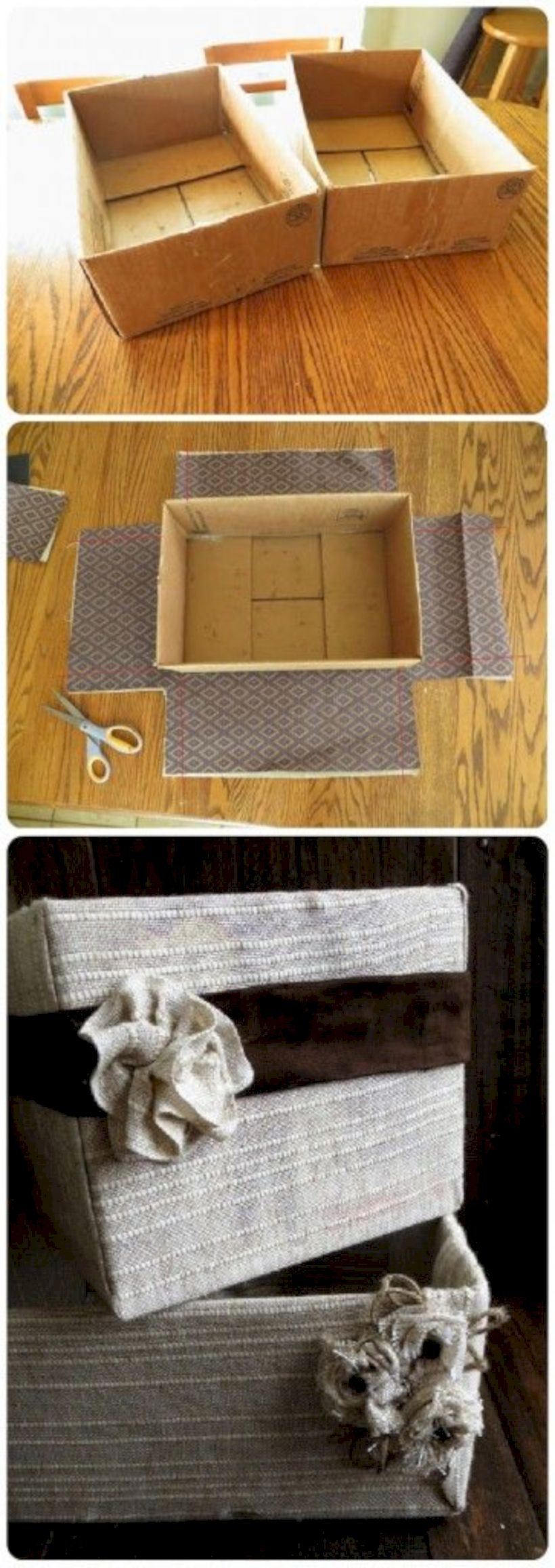 Diy bins boxes baskets