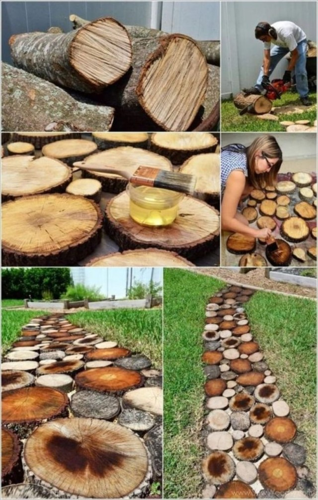 Diy garden decoration with tree