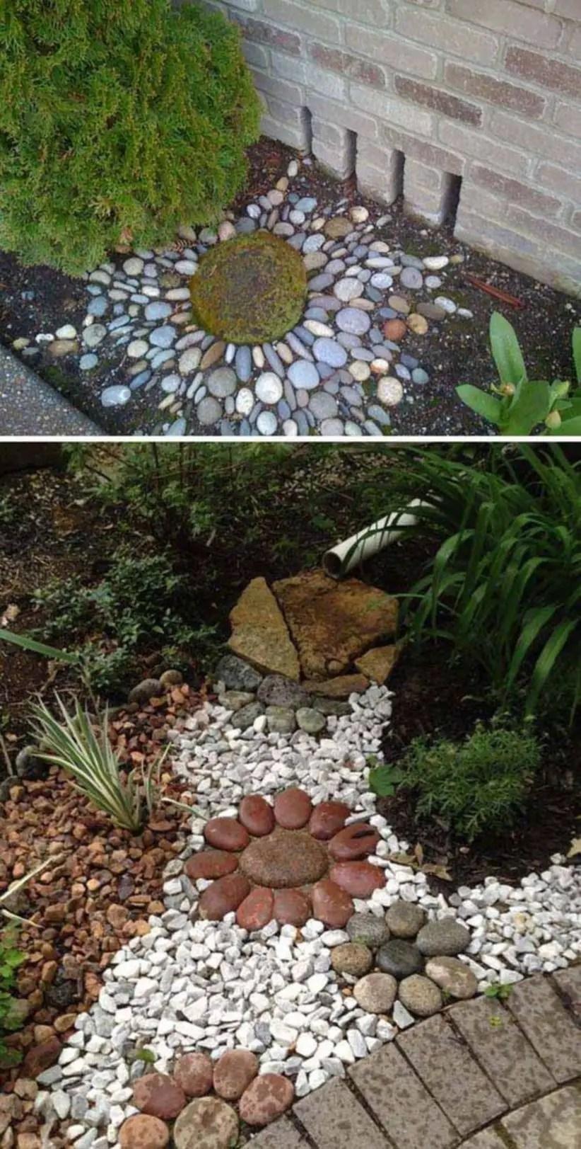 Diy ideas to create a decorative downspout landscape for garden