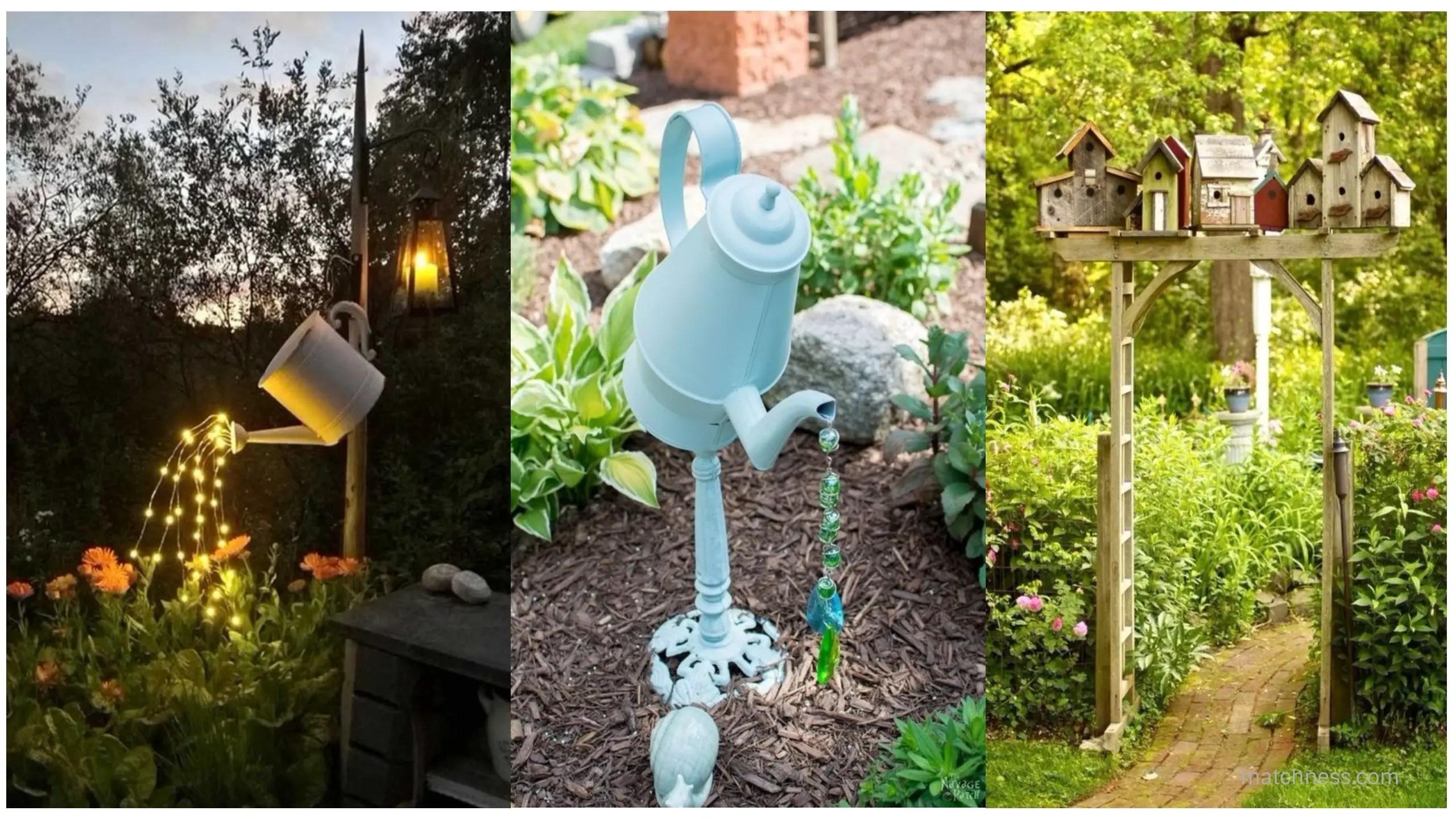 15 DIY Lovely Garden Decor Ideas You Will Love - Matchness.com on Easy Diy Garden Decor id=73009