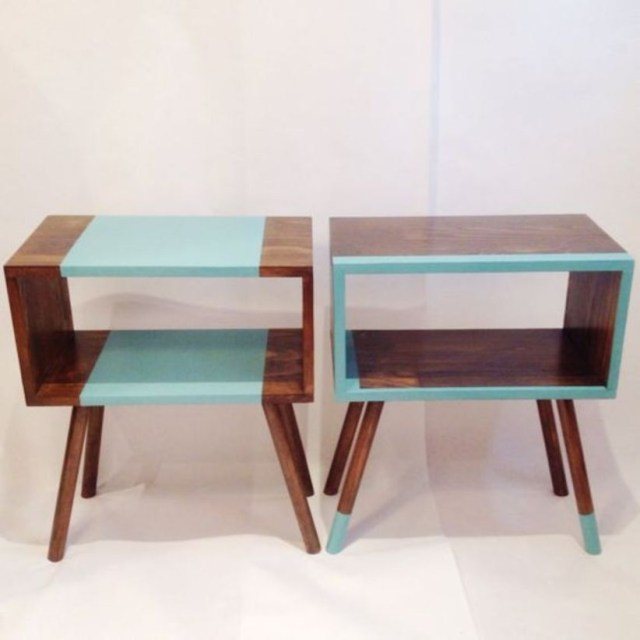 Diy media console that has a mid-century modern style
