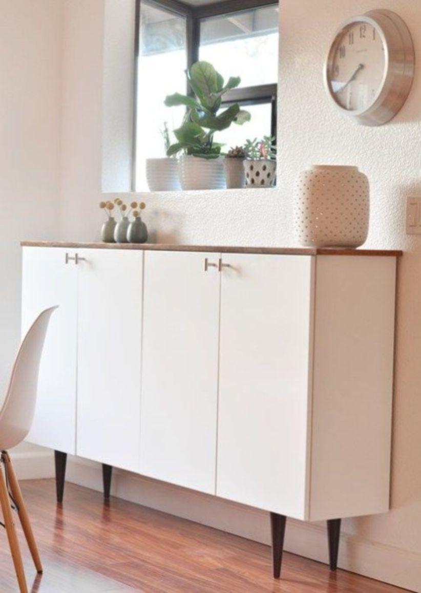 Ikea hack - kitchen cabinets as sideboard