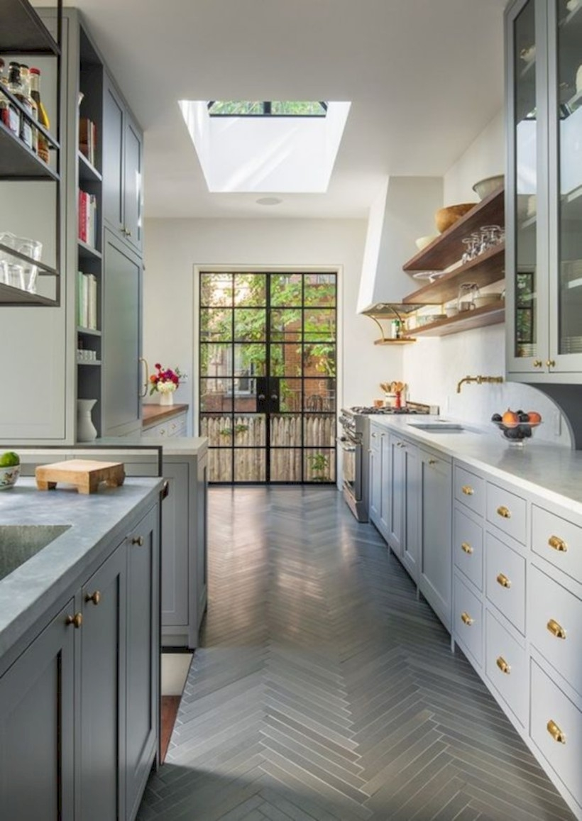 Kitchen with brooklyn brownstone