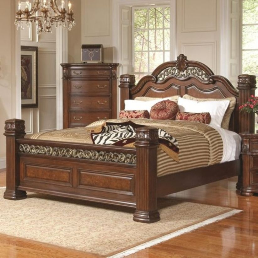 Luxury king size bed designs with drawers and elegant bed also classic frame