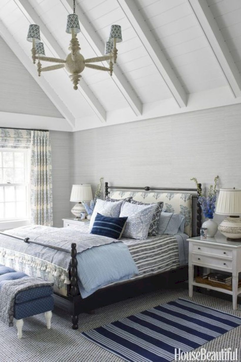 Master bedroom with the wooden ceilings