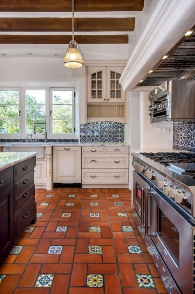 Mexican tile floor and decor ideas for kitchen decoration