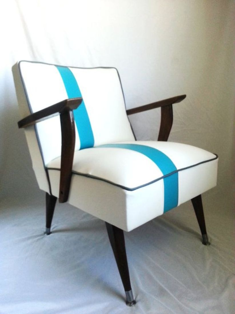 Mid century modern chair white