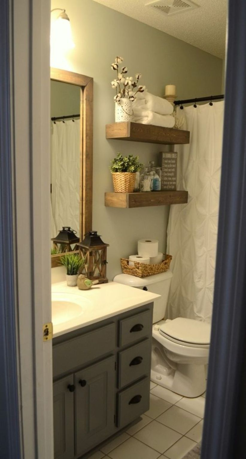 17 Beautiful and Modern Farmhouse Bathroom Design Ideas ... on Farmhouse Bathroom Ideas  id=93240