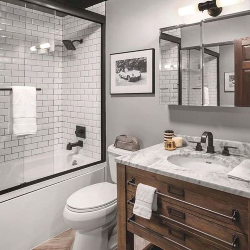17 Beautiful and Modern Farmhouse Bathroom Design Ideas ... on Farmhouse Bathroom Ideas  id=99862
