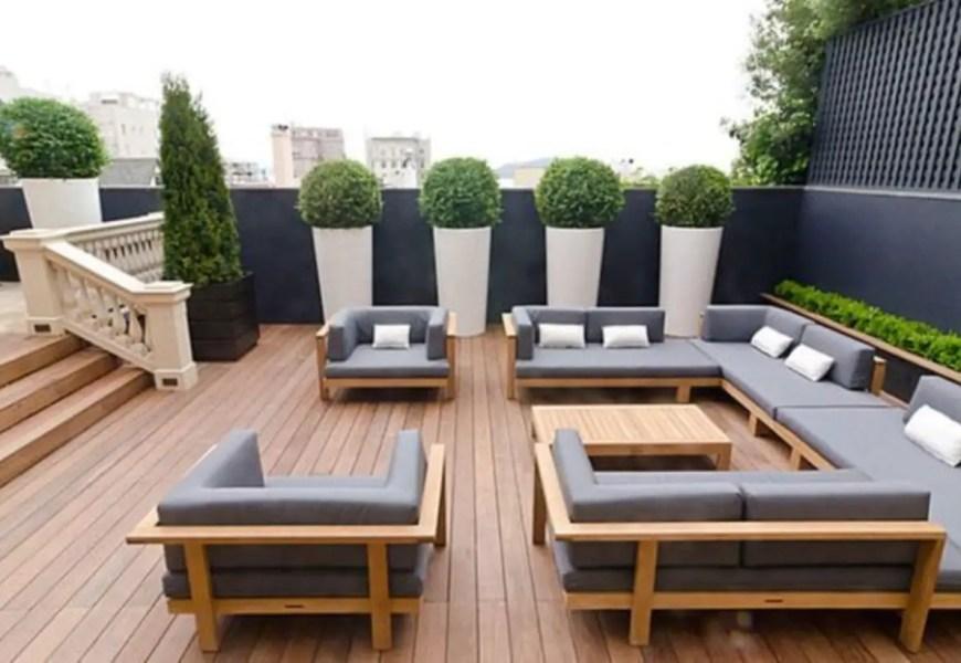 Modern outdoor living space ideas