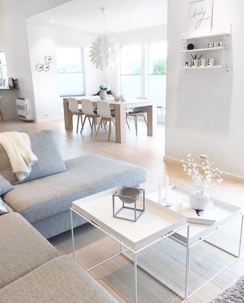 Modern scandinavian living room design