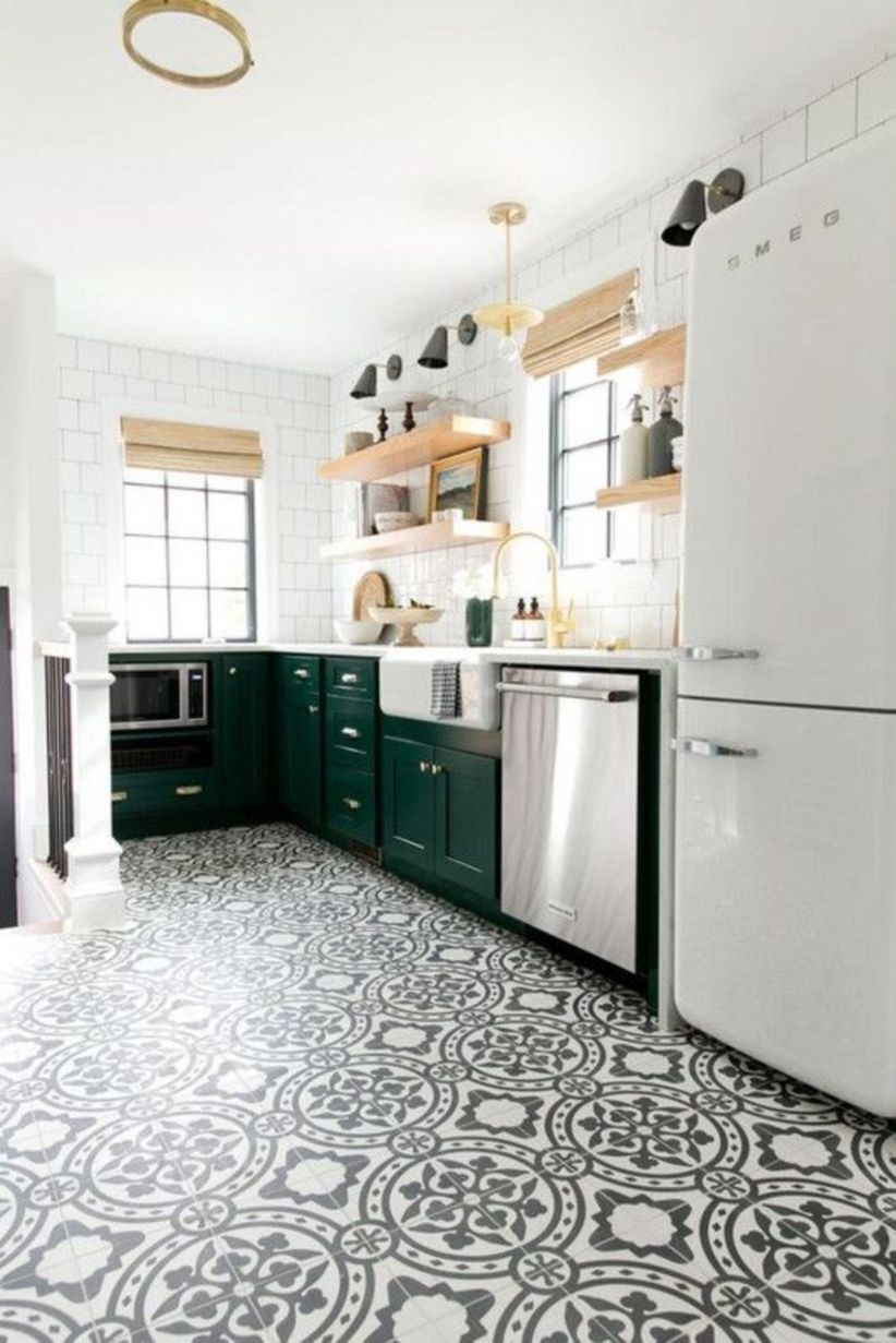 Patterned kitchen floors that got it right