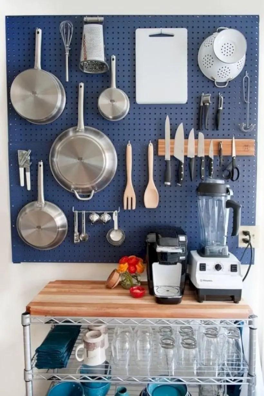 Pegboards kitchen storage