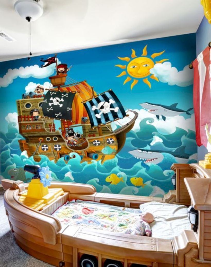 Pirates wall mural