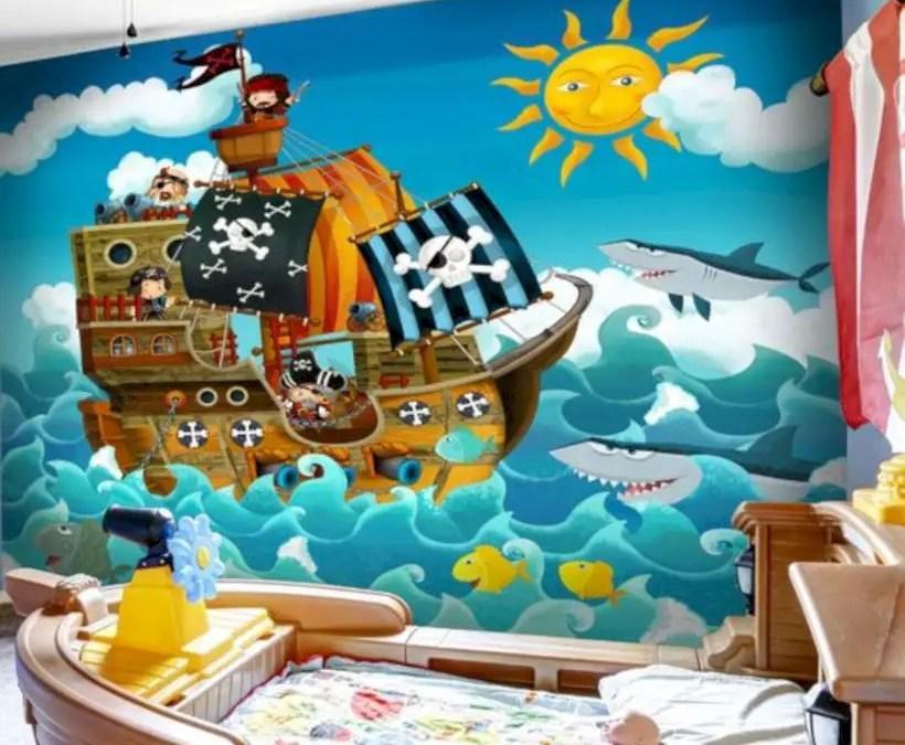 Pirates wall mural