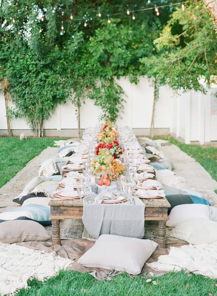 Shares boho-chic birthday party in backyard
