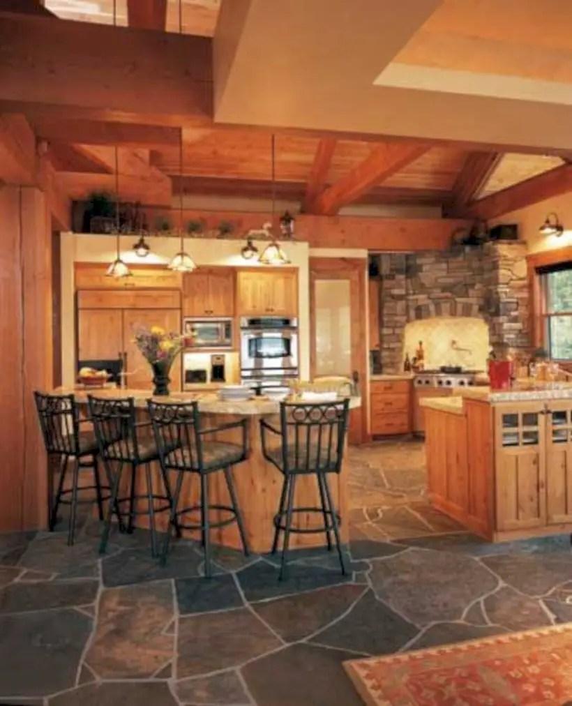 Slate kitchen flooring