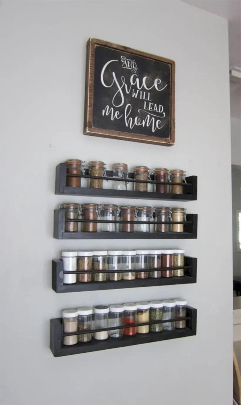 Spice rack wall storage