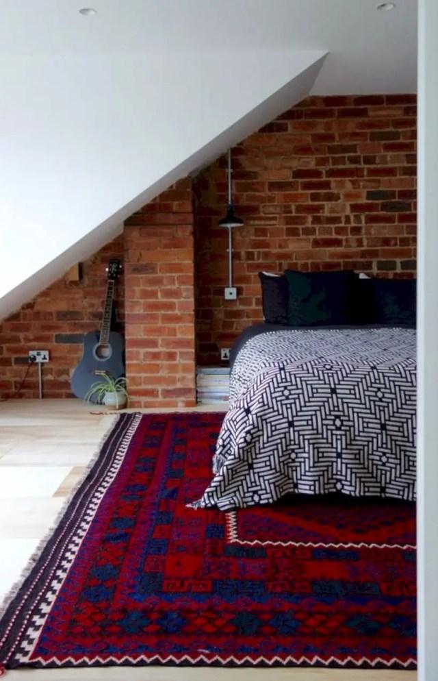 The loft bedroom