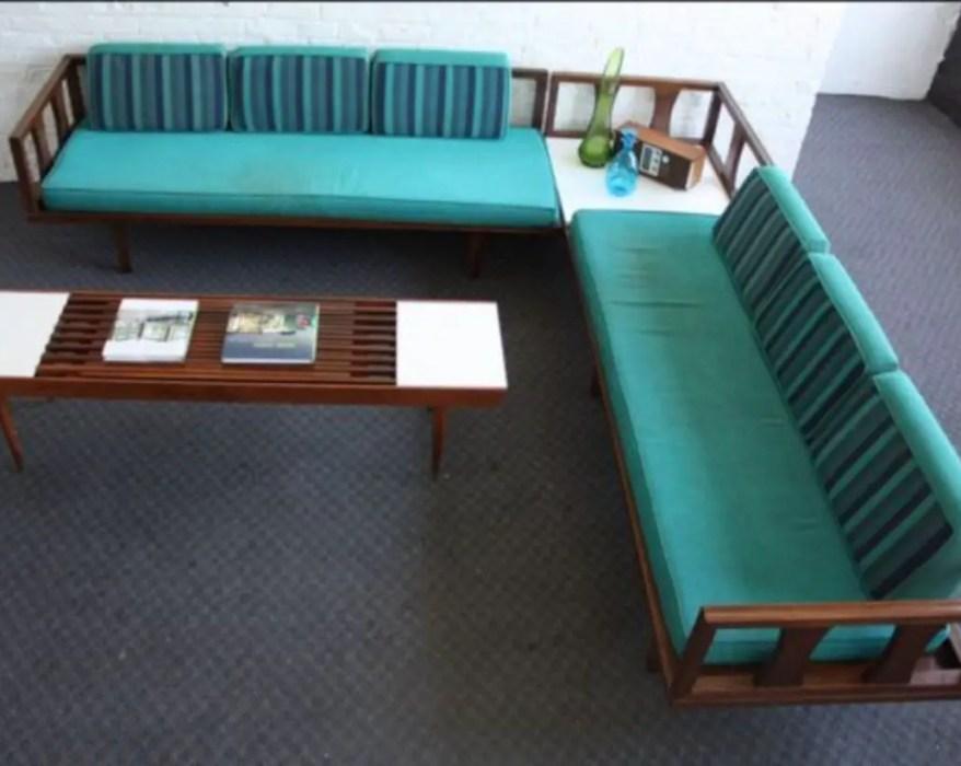 Vintage mid-century modern sofa for living room