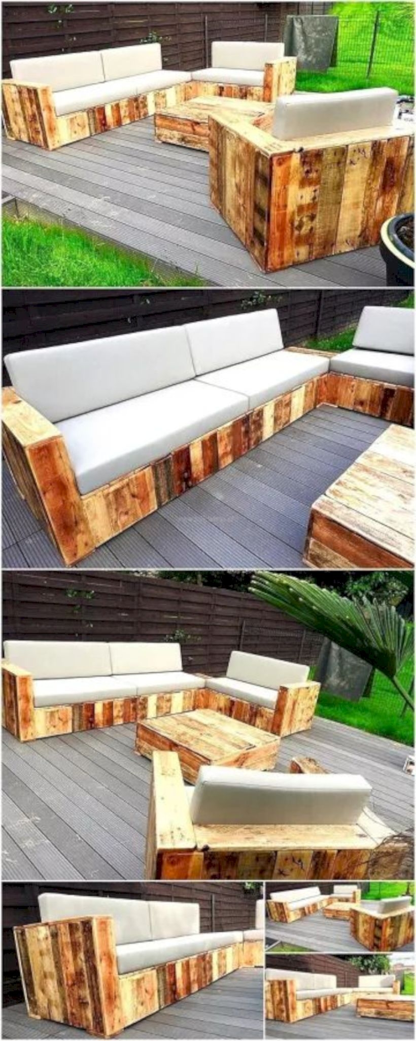 Wood pallet furniture for patio