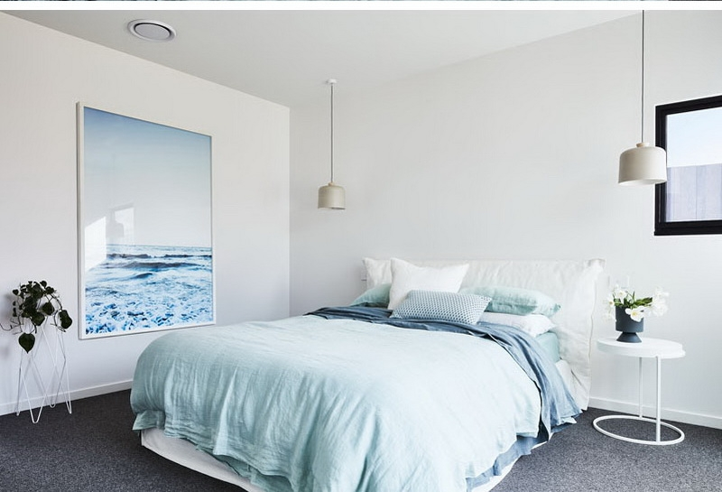 1. bed room with natural painting