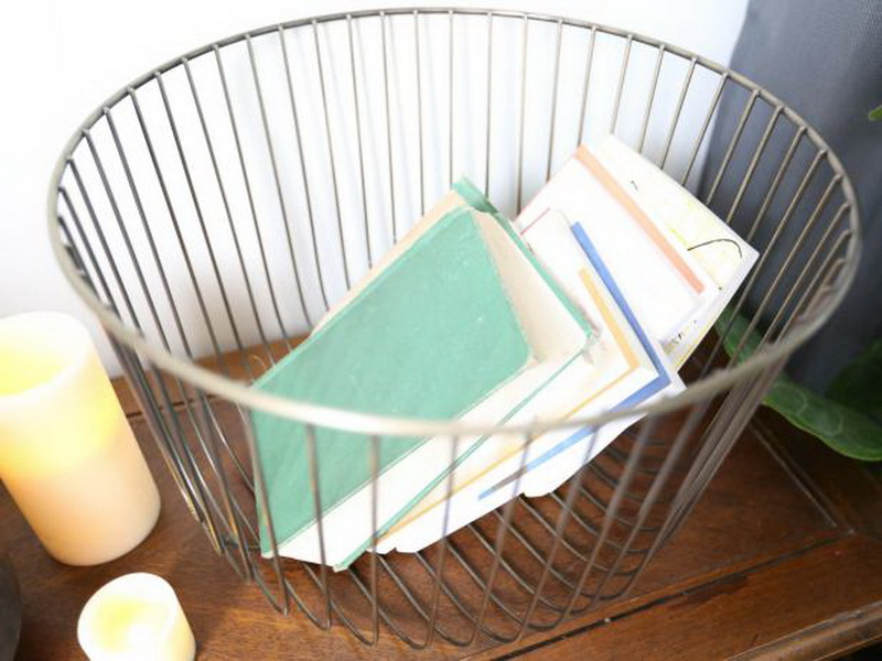 3. basket for books