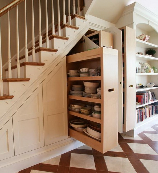 4 dishes-and-tableware-storage-under-the-stairs