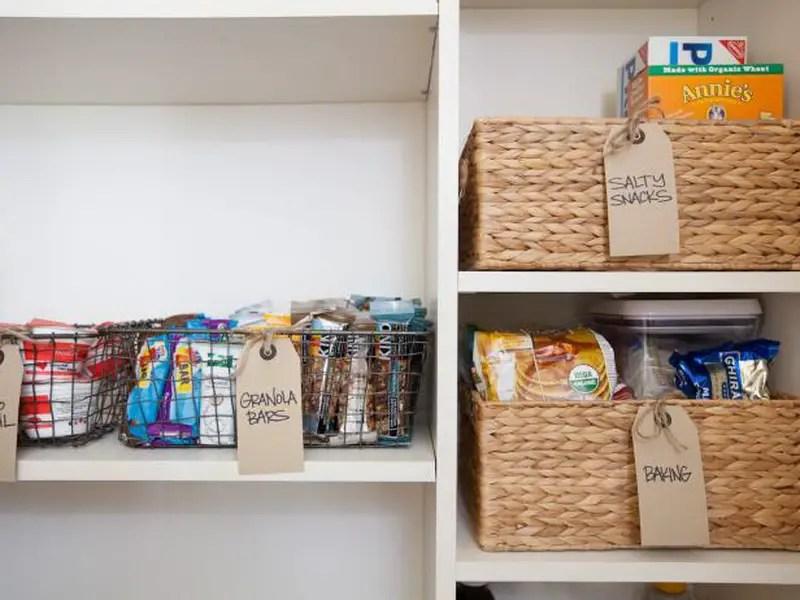 7. basket for pantry storage