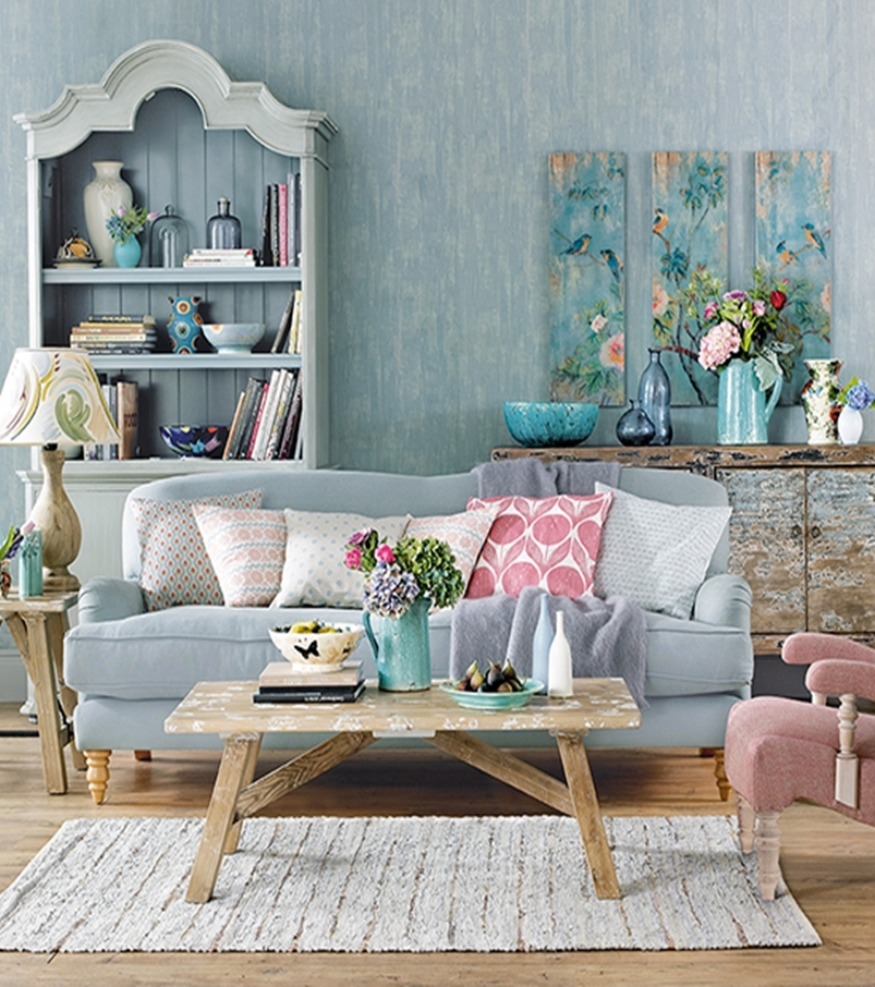 Colorful Living Room. Best Shabby Chic Decorating Ideas To Copy Right Now 6