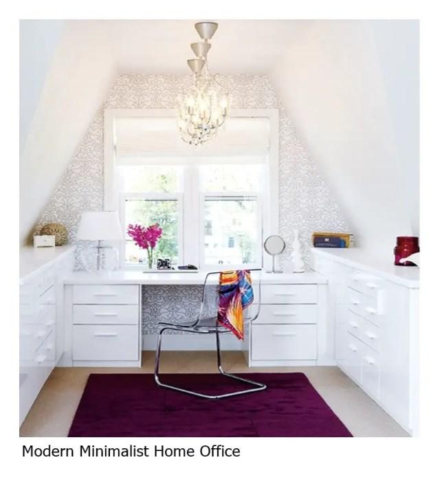 Modern minimalist home office