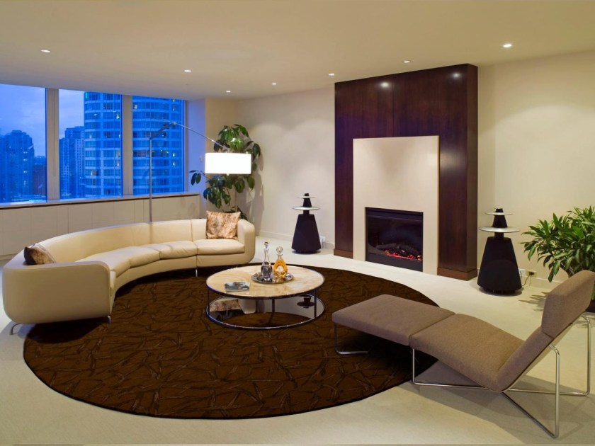 Rooms that will inspire you to try with a round rugs 2
