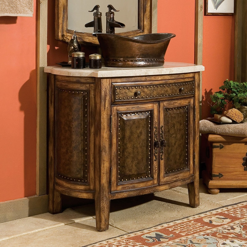 Rustic bathroom vanities 8