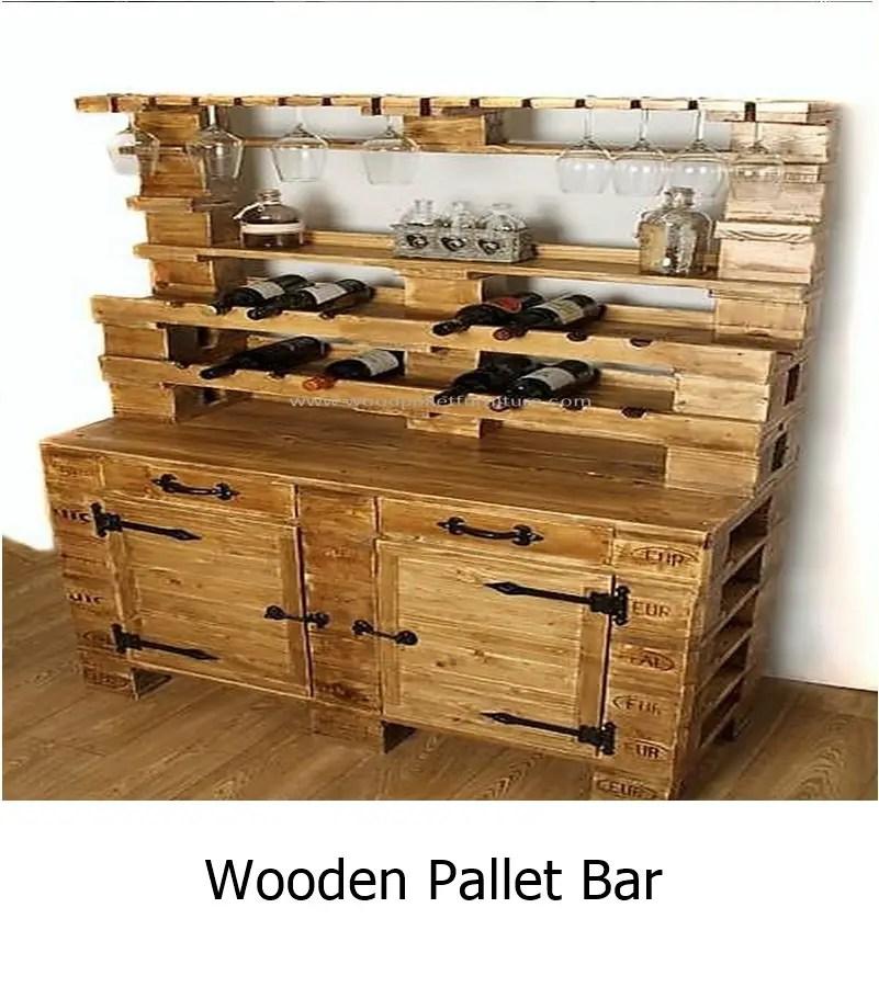 Wooden pallet bar 1