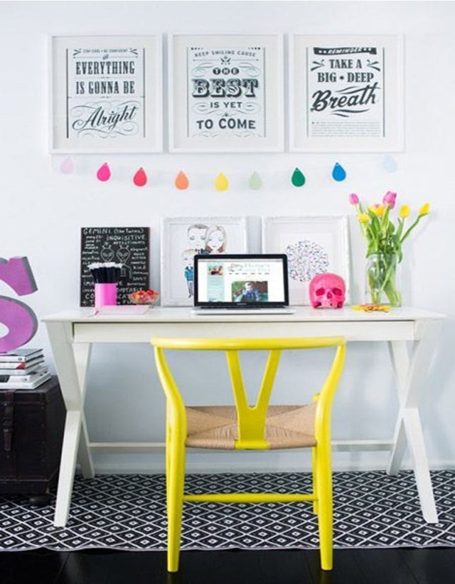 Colorful home office design ideas to brighten up your mood 5