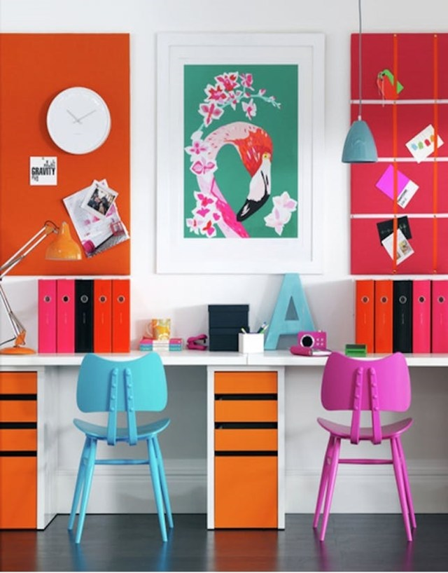 Colorful home office design ideas to brighten up your mood 9