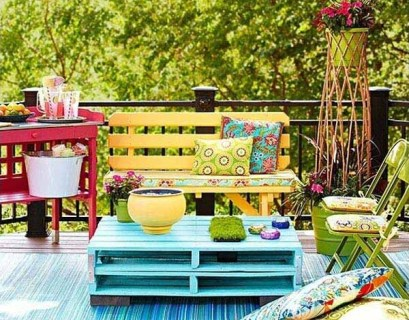 Colorful pallets