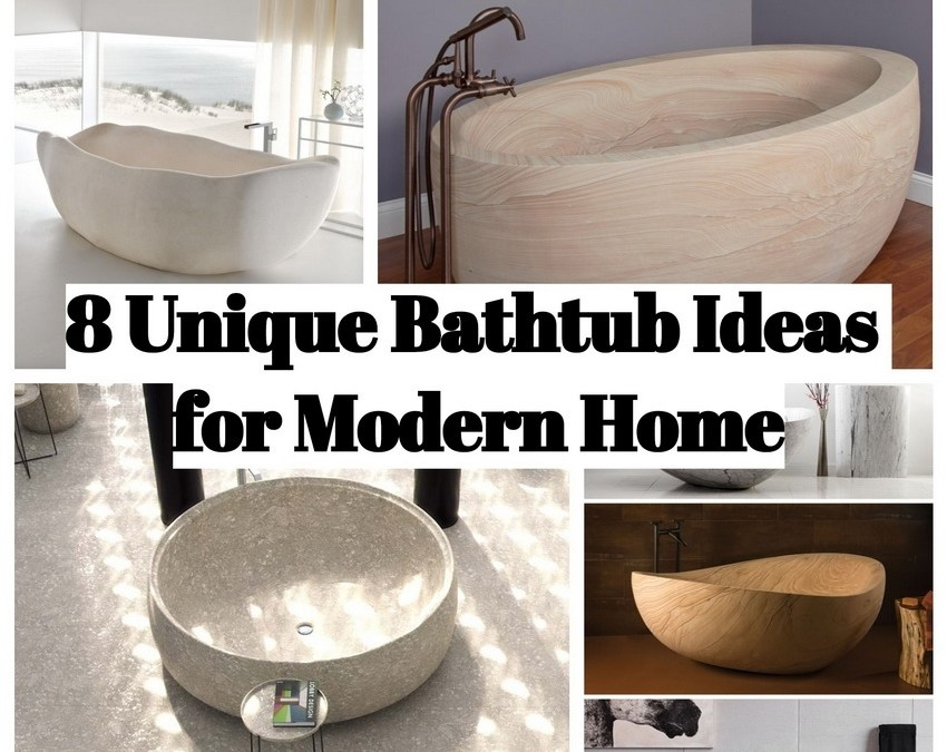8 Unique Bathtub Ideas for Modern Home