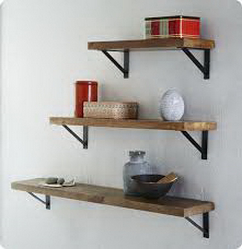 6. simple wood shelves