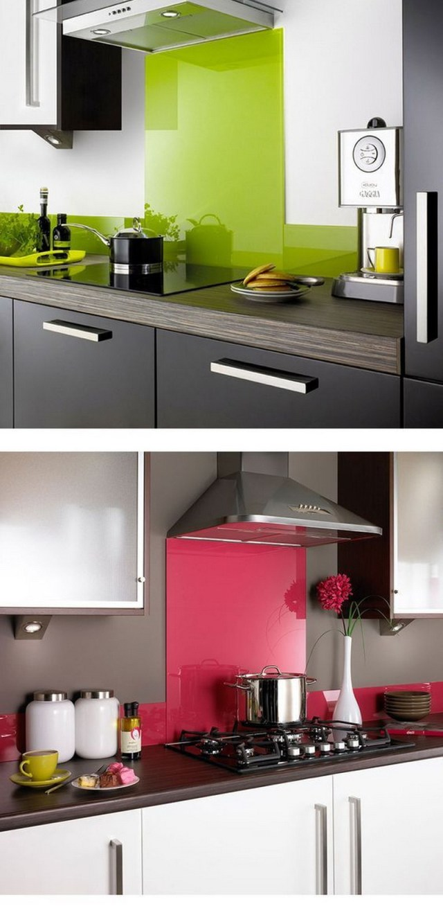 7. glossy green in the kitchen