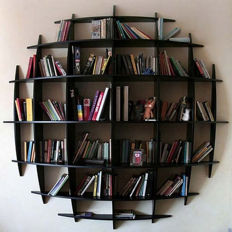8. convex wood shelves