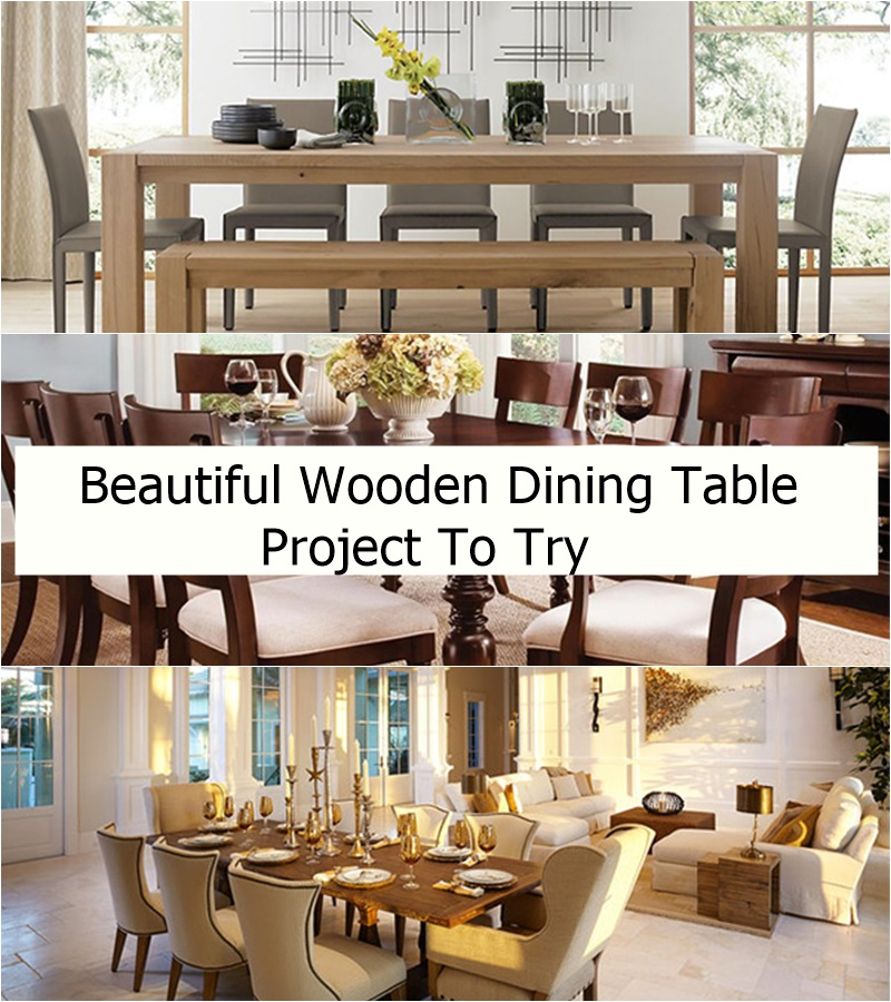 Beautiful wooden dining table project to try