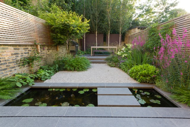 Minimalist pond for your small urban garden