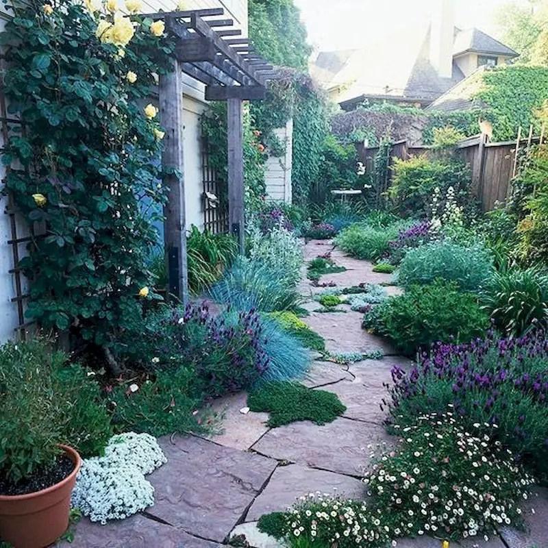 Flower garden side yard