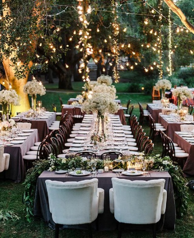 Gorgeous wedding outdoor tables