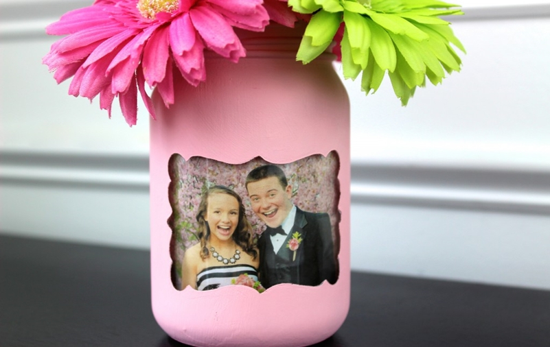 Mason jar spring decoration 6